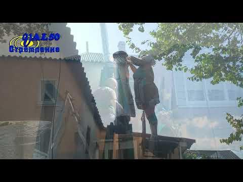 Как поднять 3-х метровый дымоход из металла на высоту два метра без подъемного крана и лебедки