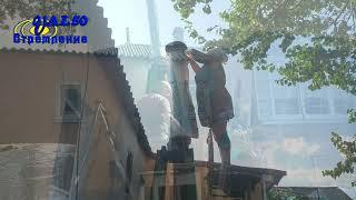 Как поднять 3х метровый дымоход из металла на высоту два метра без подъемного к