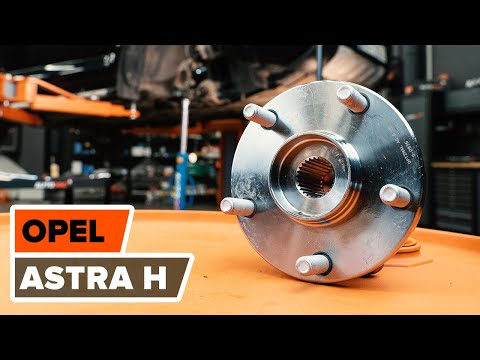How to replace front wheel bearing on OPEL ASTRA H TUTORIAL | AUTODOC