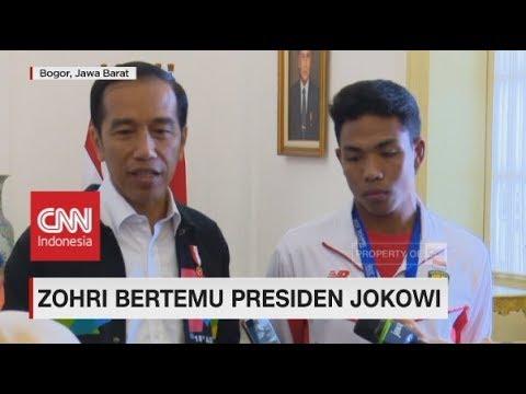 Bertemu di Istana, Presiden Jokowi Sebut Zohri 'Orang Besar' - Juara Dunia Junior Lari 100 Meter