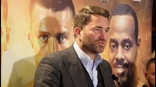 EDDIE HEARN PRESENTS ... DMITRY BIVOL v JOE SMITH JR / HOOKER v LesPIERRE - FULL PRESS CONFERENCE