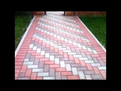 Варианты укладки тротуарной плитки.