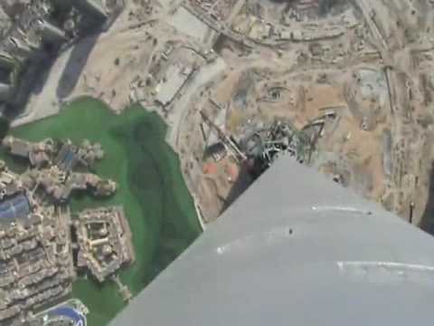 This Video From The Tip Top Of The Burj Dubai Makes Me Sick
