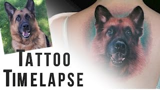 Tattoo Time-lapse - Dog Portrait