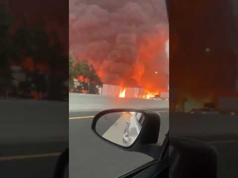 Amazon Distribution Center in Redlands, CA Fire (Credits to PM Breaking News & Naye)