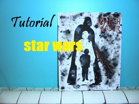 Tutorial Star Wars - Tela silhueta Darth Vader