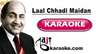 Laal Chhadi Maidan Khadi   Video Karaoke Lyrics   Janwar