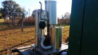Gasifier Running a Ford 45kw Generator Movie