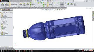 Solidworks Tutorial # 47 : How To Make A Plastic Bottle Sketch