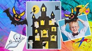 DIY Легкие поделки на Хэллоуин. Замок с приведениями. Helloween