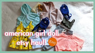 AMERICAN GIRL DOLL ETSY CLOTHES HAUL FOR BACK TO SCHOOL! | Dolly_d3lights