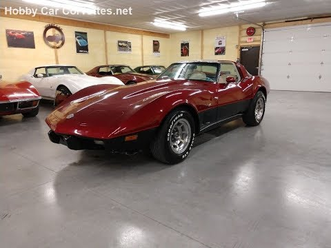 1978 Dark Red Corvette L82 T Top Video