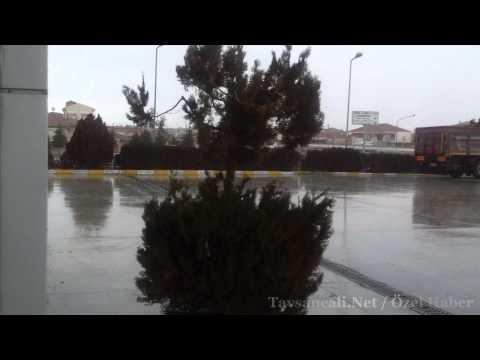24 ocak günü Tavşançalı'mızda Sağanak Yağmur