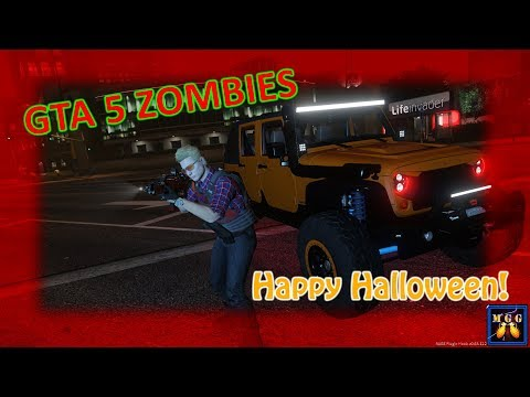 Happy Halloween 2018! | GTA 5 Zombie Mod Episode 1