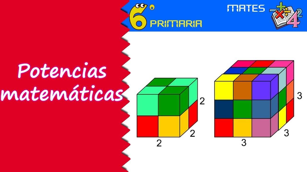 Potencias matemáticas. Mate, 6º Primaria