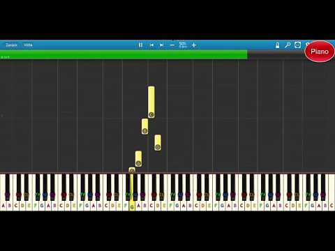 We Wish You a Merry Christmas – Klavier lernen für Kider- sehr einfach – Piano Tutorial