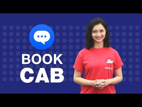 How to book a cab on JioChat?