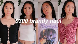 Brandy Melville Try On Clothing Haul+ Unboxing!🌺