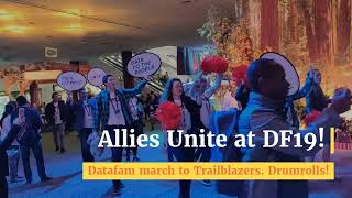 Allies Unite at Dreamforce 2019! Datafam march to trailblazers, Drumrolls!