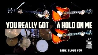 You Really Got A Hold On Me - Instrumental Cover - Guitars, Bass, Piano and Drums