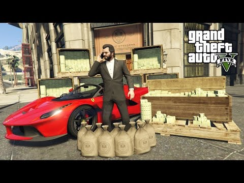 GTA 5 Real Life Mod #44 - BUYING A FERRARI & MAKING MONEY!! (GTA 5 Mods)