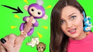 ОНА ЖИВАЯ! Что умеет обезьянка FINGERLINGS? Обзор и распаковка необычной игрушки