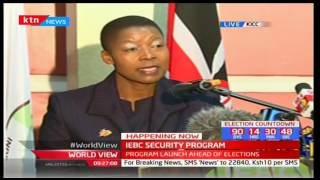 Mrs. Dorcas Agik Oduor-Secretary, DPP at launch of Elections Security Arrangement Program