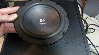 How To Take Apart Logitech Z623 Subwoofer & Amp