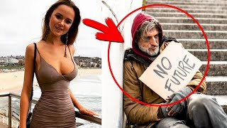 Homeless Guy Asked A Wealthy Lady Out On A Date… She Didn't Expect That…