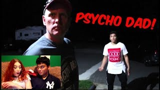 """Girlfriend Reacts to """"PSYCHO DAD KICKS OUT FAN"""" (KICKED ME OUT!)"""