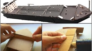 Making a Model Oil Tanker with Cardboard