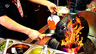 Very Fast Cooking in a Chinese Wok.