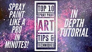 Top 10 Spray Paint Art Techniques - Beginner Spray Paint Art Tutorial