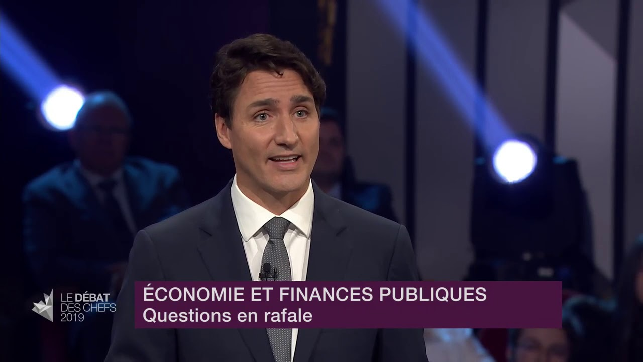Justin Trudeau answers a question about growing debt amid fears of recession