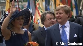 Koning Willem Alexander en koningin Máxima bezoeken Oisterwijk