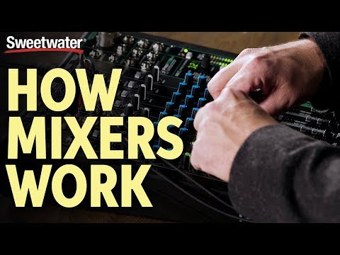 How Audio Mixers Work – What is a Mixer & What Does it Do?   Live Sound Lesson