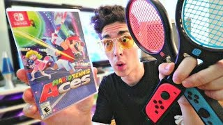 ULTIMATE Mario Tennis Aces Unboxing! *ON LAUNCH*
