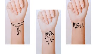 S,R Beautiful😍 Letter Tattoos Mehndi Design New 2019 By Keval Amit Gohel