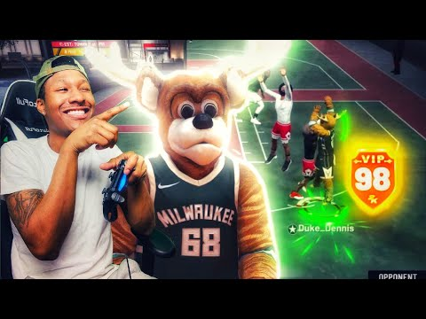 Using a MASCOT for the FIRST time on NBA 2K19! 98 overall stretch big demigod build! Best Build 2k19