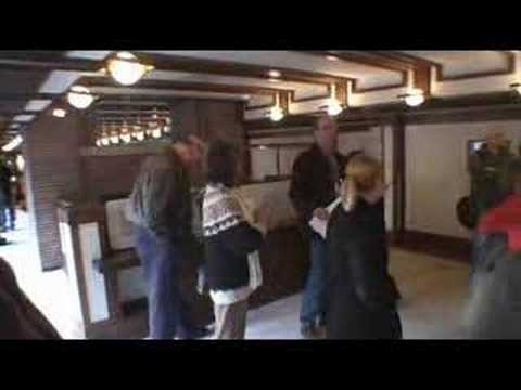 Robie House dining area – when plywood was new technology