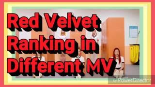 Red Velvet Ranking In Different MV
