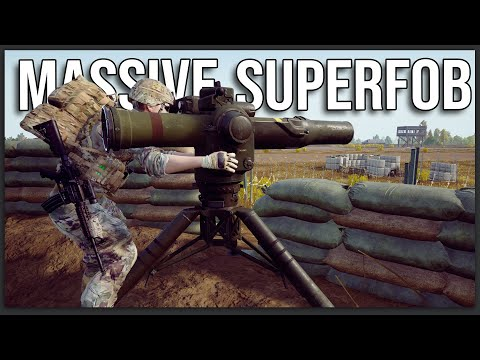 MASSIVE AIRFIELD SUPERFOB WITH HELICOPTER SUPPORT! - 40V40 Squad v16 Gameplay