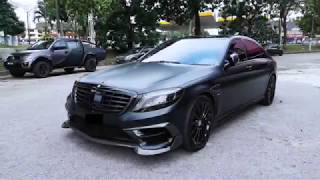 MERCEDES S- CLASS WRAPPED WITH MATTE BLACK