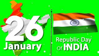 26 January Republic Day Green Screen | Green Screen Indian Flag Download | 26 January status video