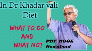 Dr Khdar vali diet | What to Do