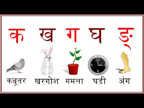 Hindi Varnmala with Pictures for Kids || Learning Hindi Alphabets and words || हिंदी वर्णमाला