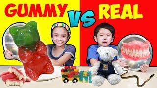 บรีแอนน่า   กัมมี่ VS ของจริง ชาเลนจ์ สุดฮา ห้ามพลาดเซอร์ไพรส์ตอนจบ!   GUMMY VS REAL