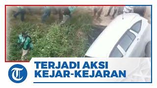 Video Detik-detik Mobil Masuk Selokan seusai Dikejar Pemotor, Diduga Lakukan Tabrakan Beruntun