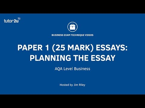 AQA A Level Paper1 (25 Mark Essays) - Planning the Essay