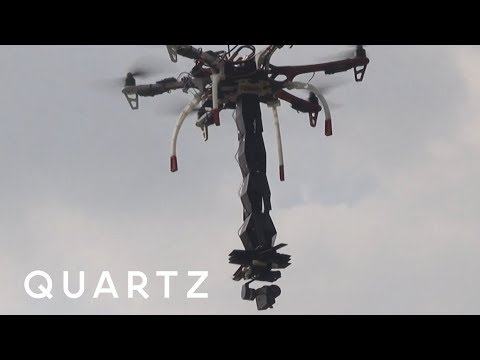 Badass Drone with an Origami Claw
